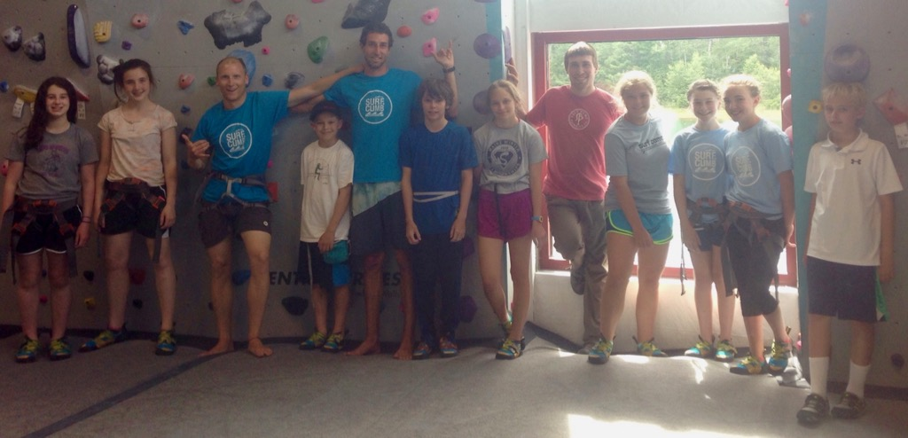 Surf + Climb Camp Group