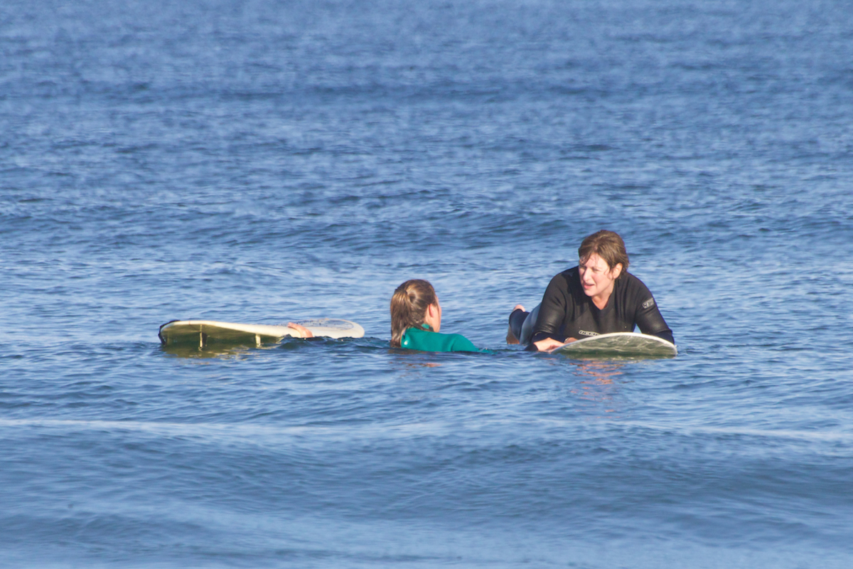 In and out of the water, we provide one-on-one hands on instruction to make sure everyone has a good time.