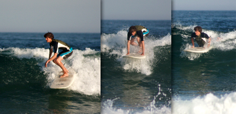 Learning to surf, example of a good Pop Up