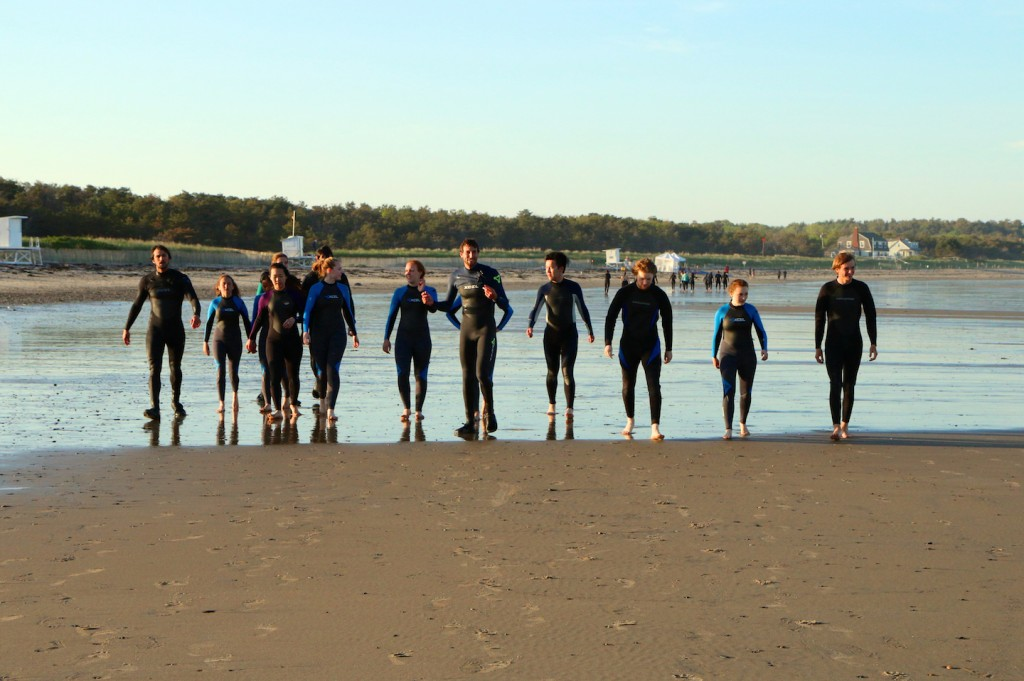 Group surf lesson in Maine at Scarborough Beach