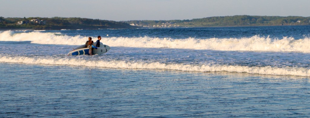 Perfect maine surfing