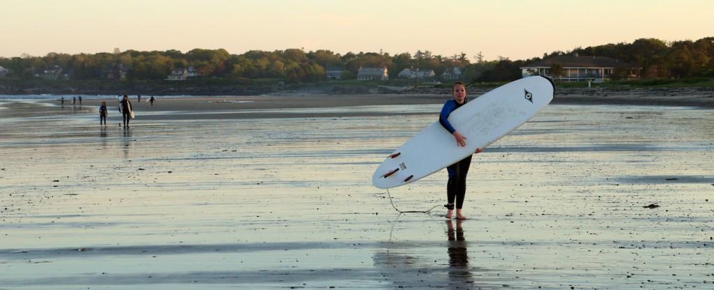 Surfing at scarborough beach