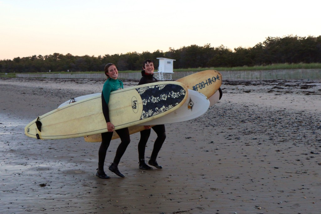 Surf Camp instructors after a lesson