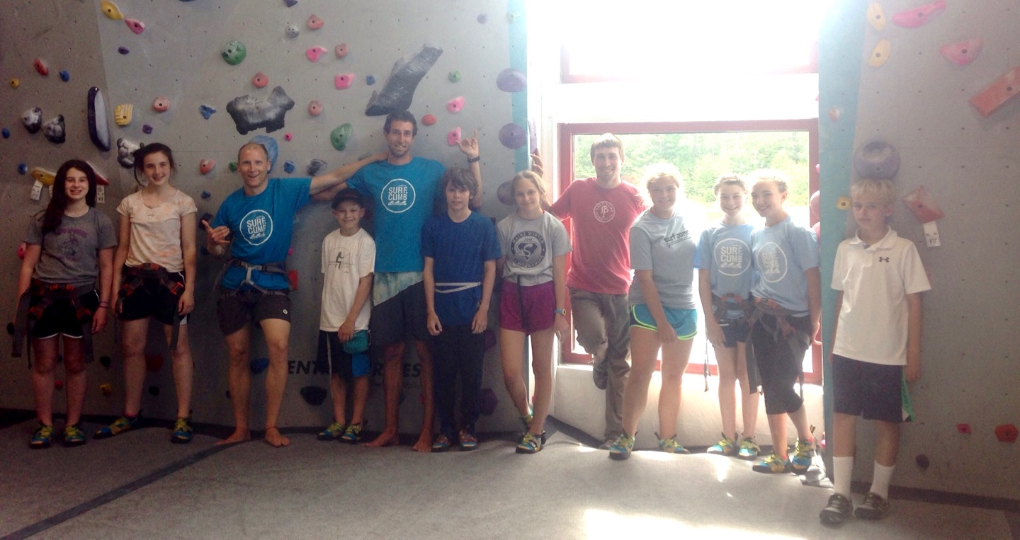 Surf + Climb Camp with Surf Camp @ Salt Pump Climbing