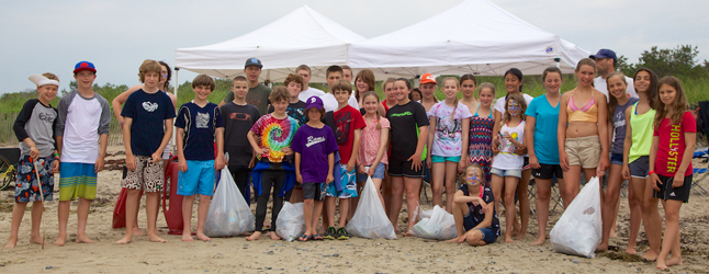 From our weekly beach cleanup