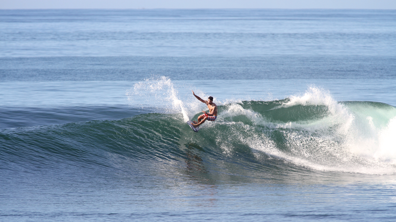 Sawyer Theriault surfing in Keramas, Bali, Indonesia