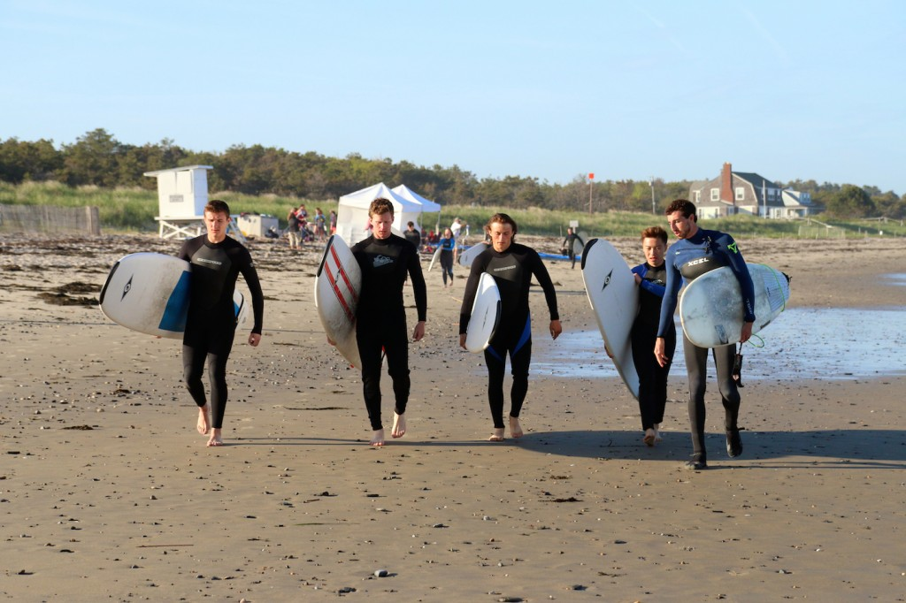 Surf lesson on a beautiful Maine night