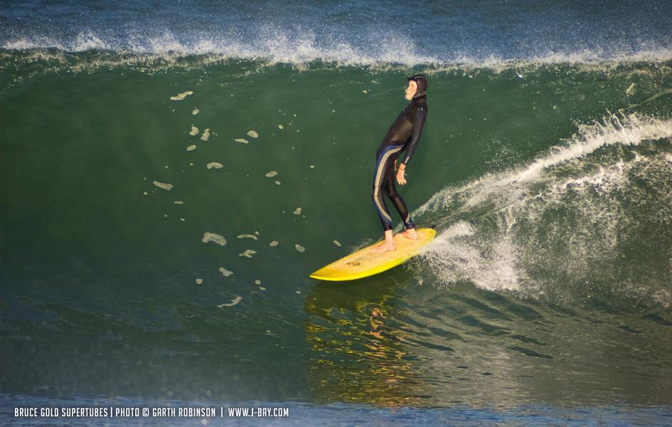Bruce Gold at Jeffrey's Bay. Photo: Garth Robinson